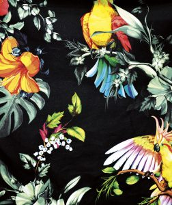Shown at ITMA 2019, Neenah Coldenhove's trailblazing new Texcol product, a digital pigment transfer paper, which prints on both Cotton and Linen Fabrics, to the Technijet's new Swift-Jet machine, which, using a novel spray-coating system, claims to save 50% of the water volume and energy used in pre-coating fabric for Digital Textile Printing. Photo courtesy: FESPA